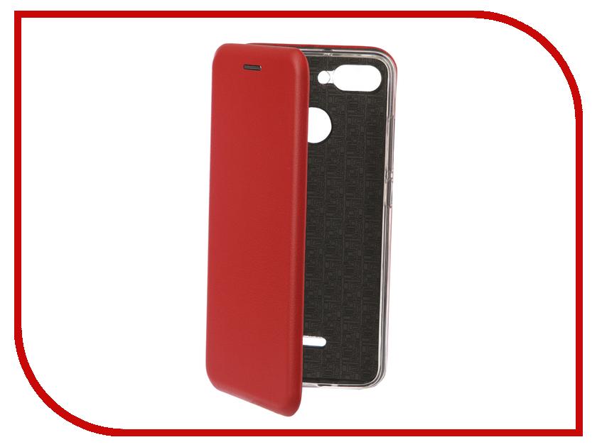Аксессуар Чехол-книга для Xiaomi Redmi 6 Innovation Book Silicone Red 12467 110db loud security alarm siren horn speaker buzzer black red dc 6 16v
