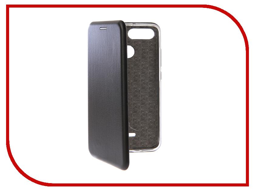 Аксессуар Чехол-книга для Xiaomi Redmi 6 Innovation Book Silicone Black 12468 аксессуар чехол книга для xiaomi redmi 5 plus redmi note 5 innovation book silicone black 11445