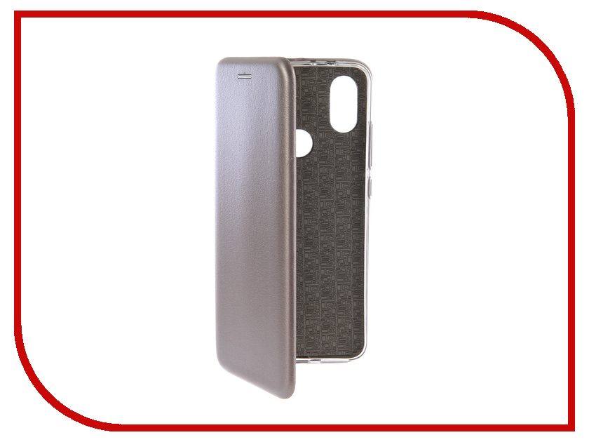 Аксессуар Чехол-книга для Xiaomi Mi A2 Innovation Book Silicone Silver 12479 аксессуар