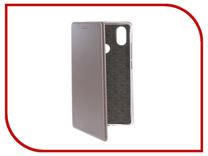 Аксессуар Чехол-книга для Xiaomi Mi 8 SE Innovation Book Silicone Silver 12489 wierss коричневый для xiaomi mi 8 se