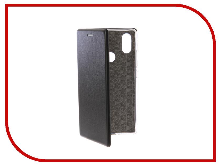 Аксессуар Чехол-книга для Xiaomi Mi 8 SE Innovation Book Silicone Black 12488 чехол книжка red line book type для xiaomi redmi 5 black