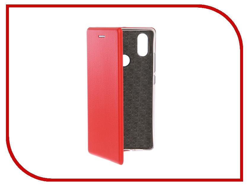 Аксессуар Чехол-книга для Xiaomi Mi 8 SE Innovation Book Silicone Red 12487 wierss коричневый для xiaomi mi 8 se