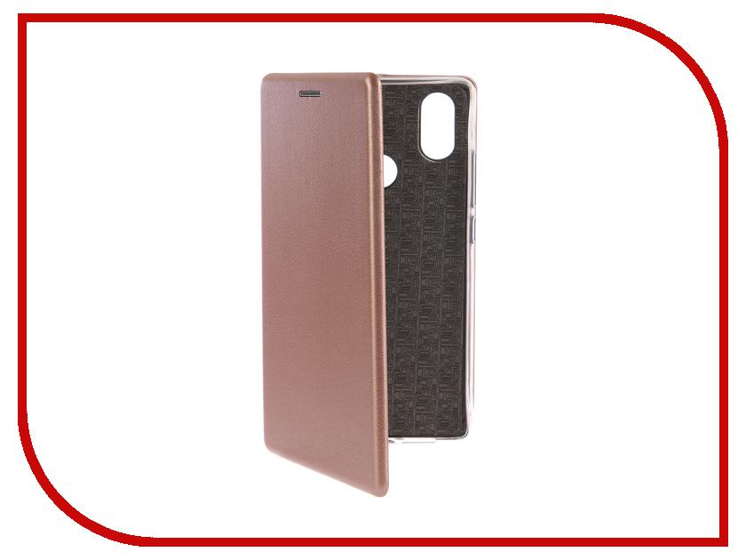 Аксессуар Чехол-книга для Xiaomi Mi 8 SE Innovation Book Silicone Rose Gold 12486 аксессуар чехол книга для samsung galaxy a3 2016 innovation book silicone rose gold 11488