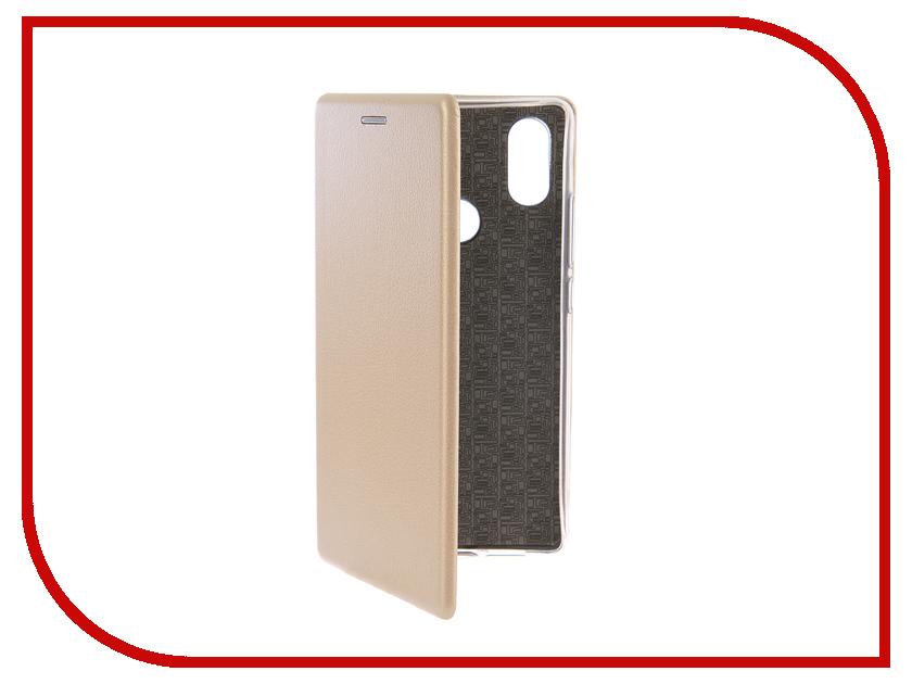 Аксессуар Чехол-книга для Xiaomi Mi 8 SE Innovation Book Silicone Gold 12485 wierss коричневый для xiaomi mi 8 se