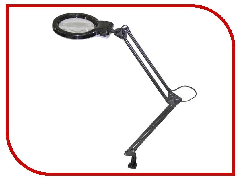 Лупа с подсветкой Трансвит Леда С20 Black на струбцине цена и фото