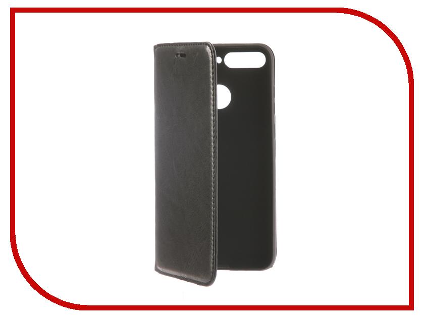 Аксессуар Чехол для Huawei Honor 7A Pro Gurdini Premium Silicone Black 906542 ecostyle shell чехол флип для huawei ascend d2 black