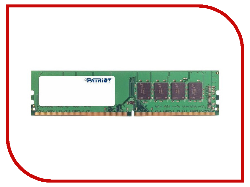 Модуль памяти Patriot Memory DDR4 DIMM 2400MHz PC4-19200 - 4Gb PSD44G240082 4gb 2gbx2 team high performance memory ram upgrade for dell xps 720 h2c 9150 one 20 the memory kit comes with life time warranty