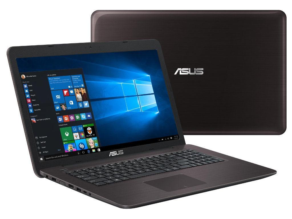 Ноутбук ASUS X756UQ-T4496T 90NB0C31-M06010 Brown (Intel Core i7-7500U 2.7 GHz/8192Mb/1000Gb/DVD-RW/nVidia GeForce 940MX 2048Mb/Wi-Fi/Bluetooth/Cam/17.3/1920x1080/Windows 10 64-bit)