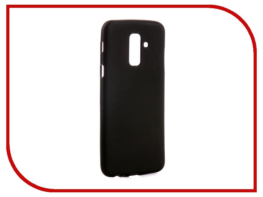 Аксессуар Чехол для Samsung Galaxy A6 Plus 2018 A605G Svekla Silicone Black SV-SGA605G-MBL аксессуар чехол для sony xperia l1 g3311 g3312 svekla silicone black sv sog3311 mbl