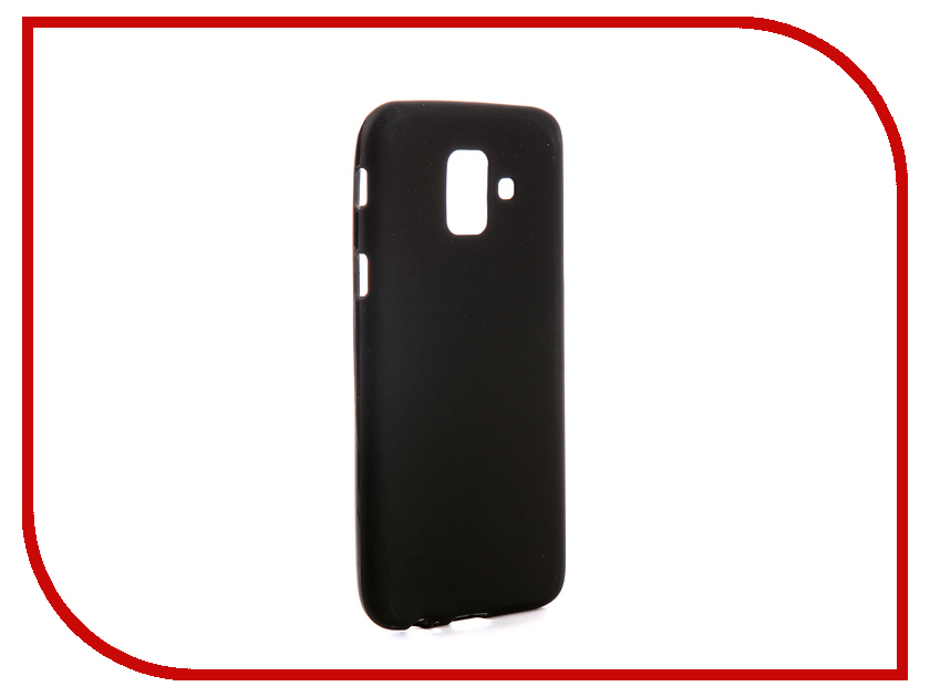 Аксессуар Чехол для Samsung Galaxy A6 2018 A600F Svekla Silicone Black SV-SGA600F-MBL аксессуар чехол для sony xperia l1 g3311 g3312 svekla silicone black sv sog3311 mbl