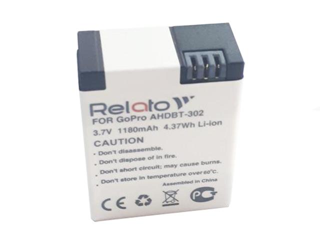 Аксессуар Аккумулятор Relato AHDBT-302 для GoPro аксессуар крепление присоска gopro suction cup aucmt 302