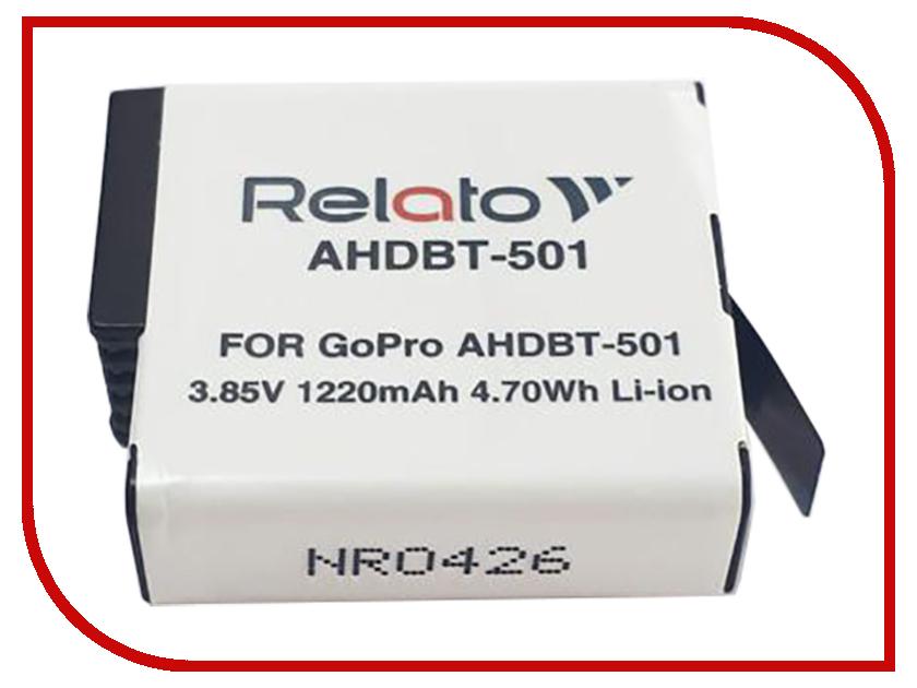 Аксессуар Аккумулятор Relato AHDBT-501 для GoPro коврик силиконовый gipfel 2896