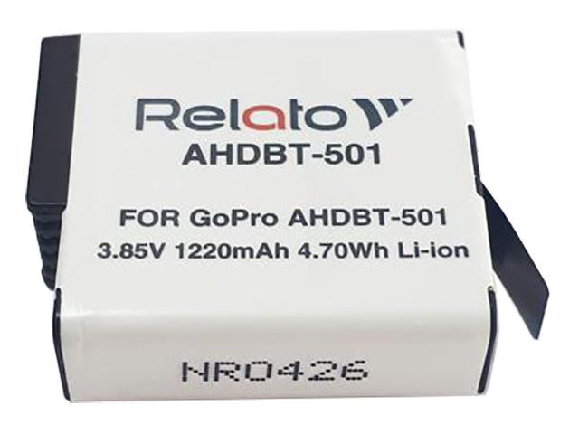 Аксессуар Аккумулятор Relato AHDBT-501 для GoPro