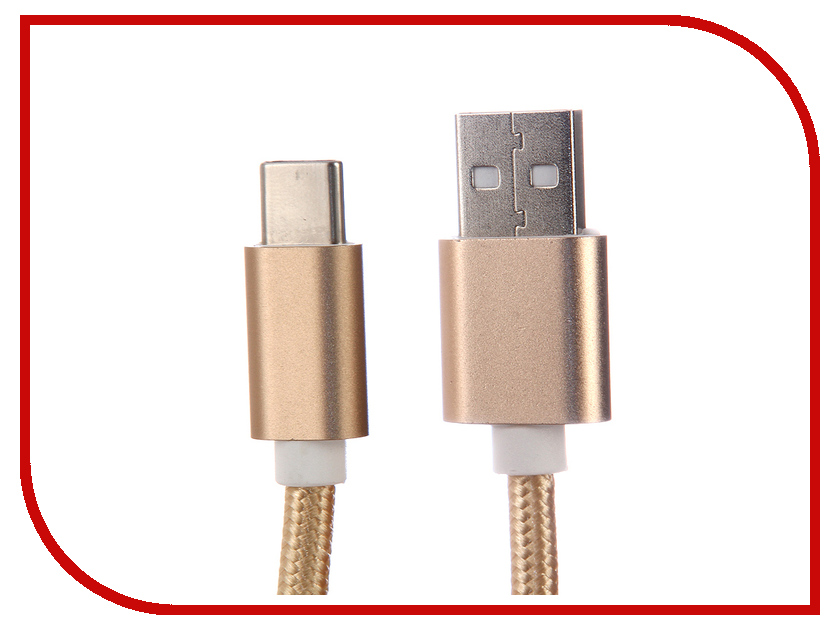 Аксессуар Red Line Type-C-USB Gold 10pcs usb male plug connector with white folding shell gold plated welding type charge date line diy plugs