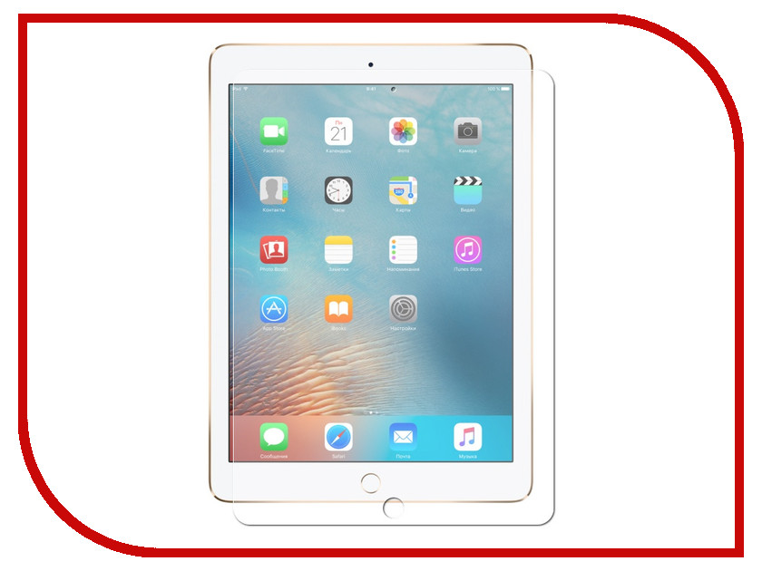 Аксессуар Гибридная защитная пленка Red Line для APPLE iPad Air / Air 2 / Pro 9.7 / iPad 2017 / 2018 newtop protective clear screen protector film guard for ipad air transparent