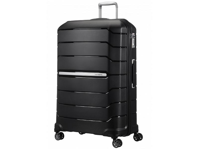 Чемодан Samsonite Flux 55x81x36cm 145L Black CB0-09004 чемодан samsonite чемодан 56 см flux soft 45x56x25 см