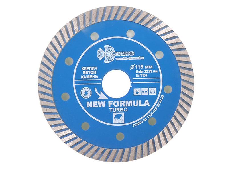 Диск Trio Diamond Turbo T101 алмазный отрезной 115x22.23mm