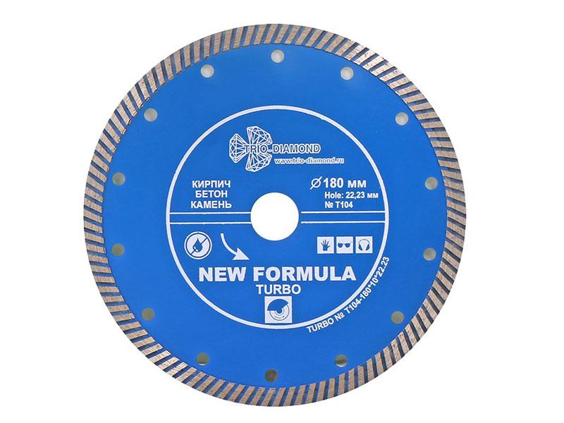Диск Trio Diamond Turbo T104 алмазный отрезной 180x22.23mm