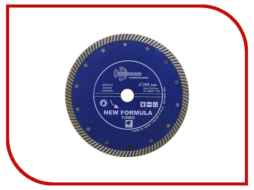 Диск Trio Diamond Turbo T105 алмазный отрезной 200x22.23mm