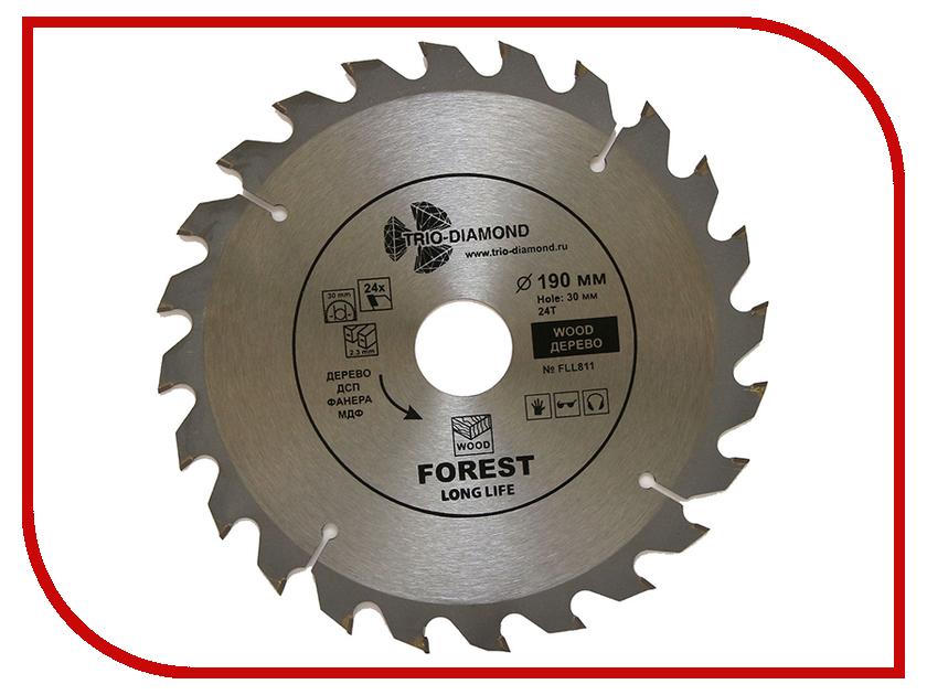 Диск Trio Diamond FLL811 пильный для дерева 190x30mm 24 зуба