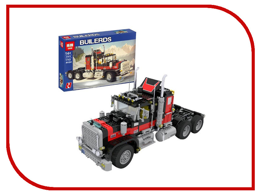 Конструктор Lepin Гигантский грузовик Black Cat 21015