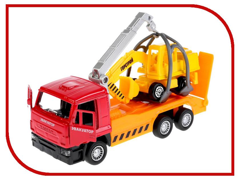 Игрушка Технопарк Камаз эвакуатор + экскаватор SB-17-24-M-WB игрушка технопарк lada в спорт окраске 3шт sb 16 79wb