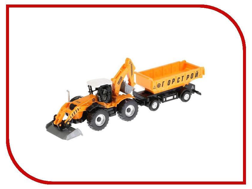Игрушка Технопарк Трактор с прицепом 158A2-R машинки brio трактор с бревнами на магн и прицепом 22х4х13см блист
