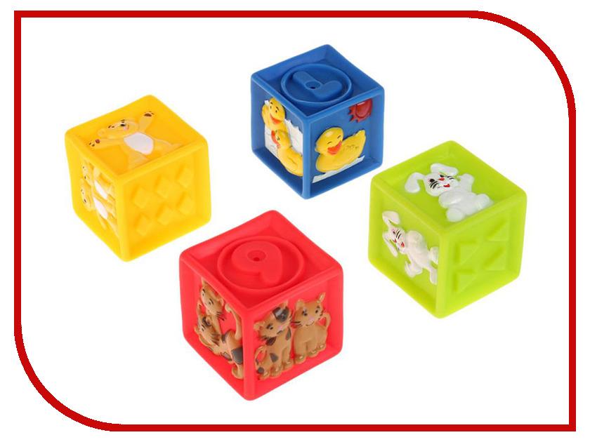Игрушка Играем вместе Кубики с животными 4шт LXN-2-4 игрушка кубики