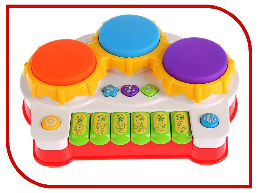 Детский музыкальный инструмент Умка Барабан B1298815-R детский музыкальный инструмент onlitop барабан 679155