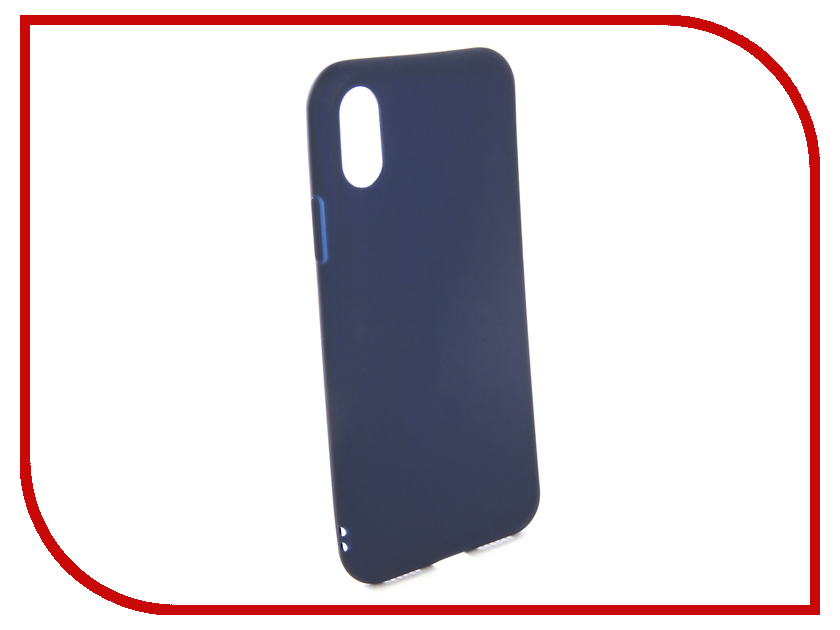 Аксессуар Чехол EVA Silicone для APPLE IPhone X Blue IP8A001BL-X аксессуар чехол with love moscow silicone для apple iphone x rainbow 5046