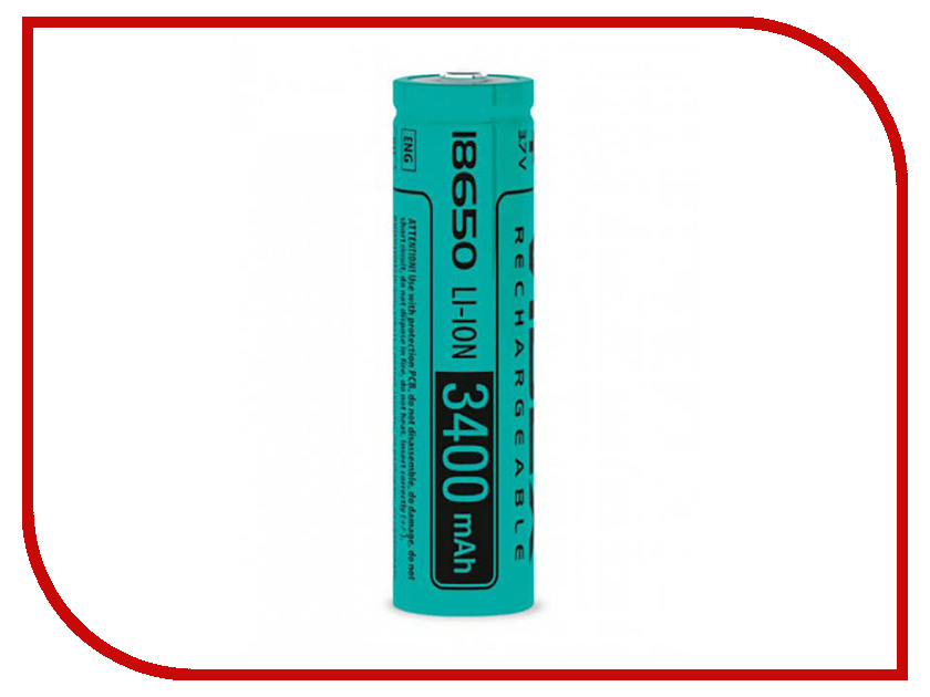 Аккумулятор Videx 18650 3400 mAh Li-ion VID-18650-3.4-NP 50pcs lot bq24650rvar