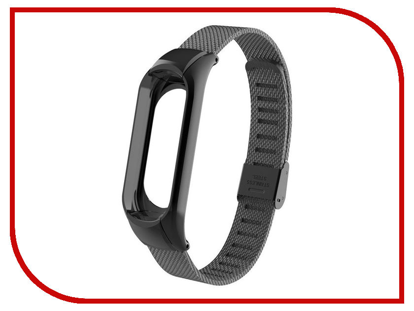 Aксессуар Ремешок Apres для Xiaomi Mi Band 3 Metal Mesh Strap Black high quality bracelets 18mm 20mm 22mm 24mm 26mm 28mm 30mm watchbands stainless steel black polished metal mens watch band strap