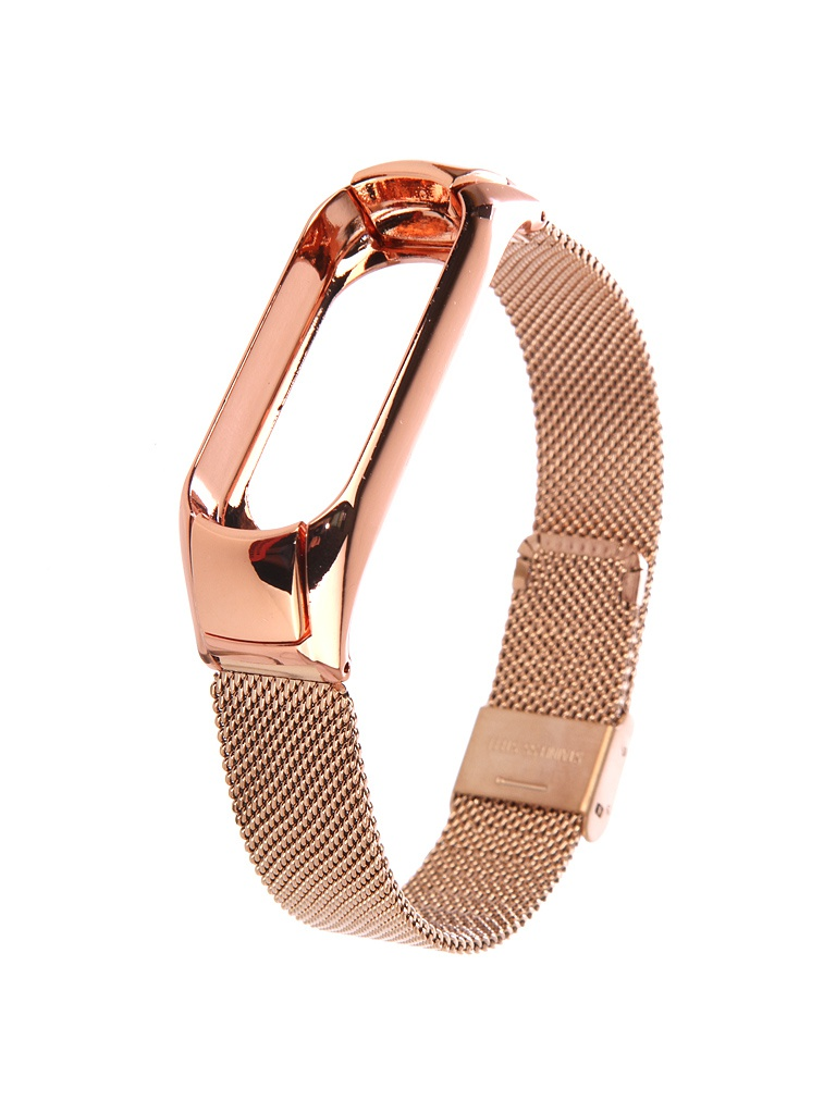 Aксессуар Ремешок Apres для Xiaomi Mi Band 3 Metal Mesh Strap Gold