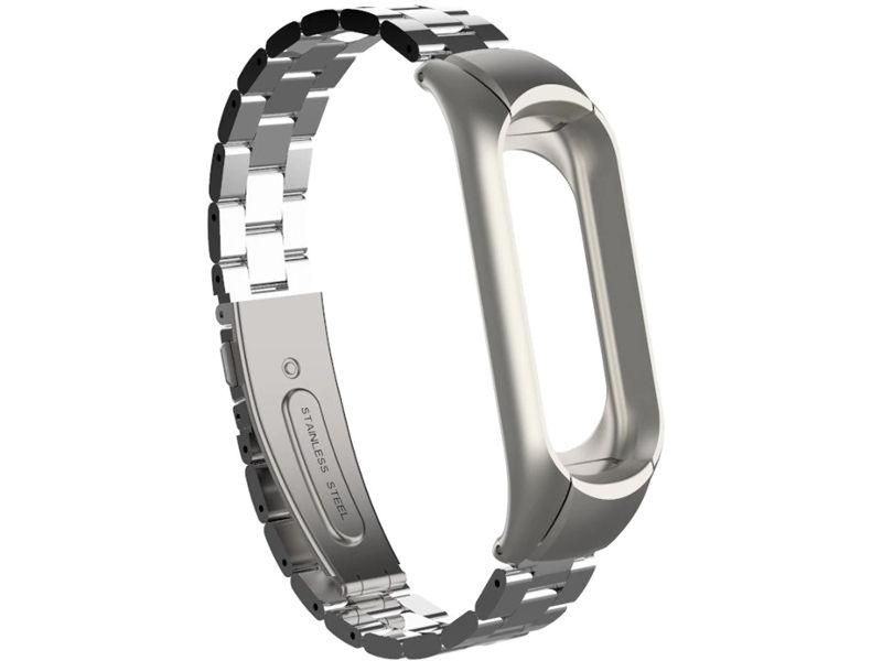 цены на Aксессуар Ремешок Apres для Xiaomi Mi Band 3 Metal Strap Silver  в интернет-магазинах