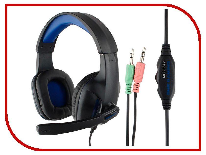 Gembird MHS-G205 Black-Blue gembird mhs g10