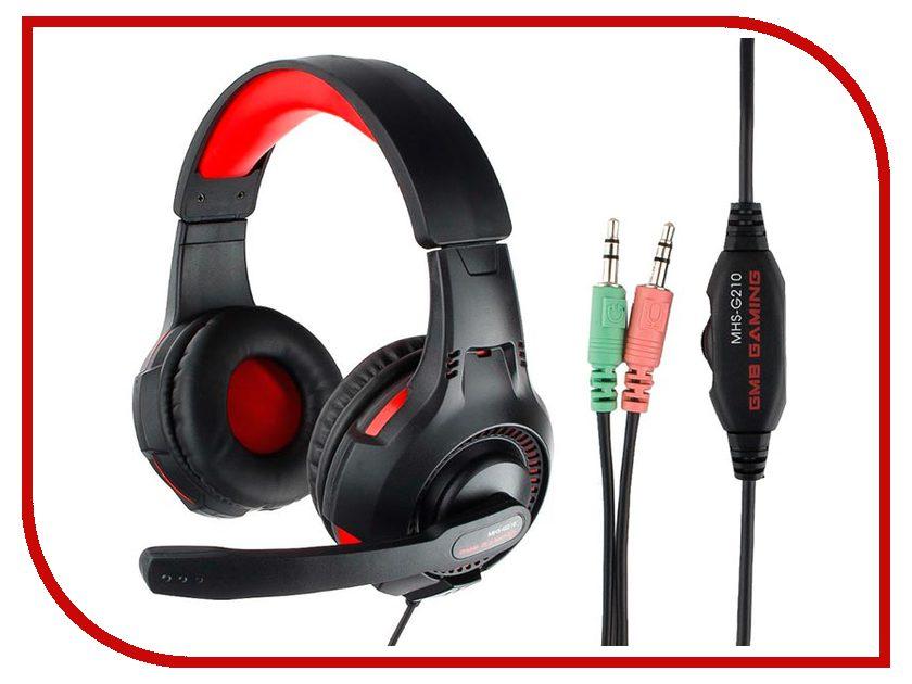 Gembird MHS-G210 Black-Red gembird mhs g10