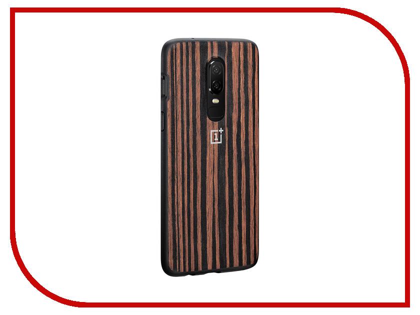 Аксессуар Чехол OnePlus 6 Bumper Ebony Wood