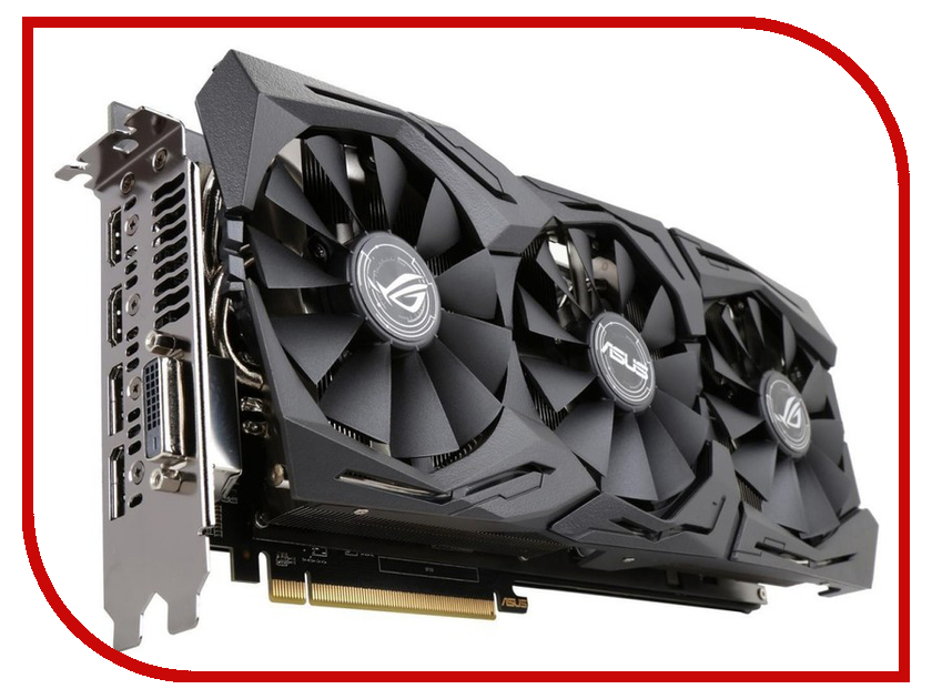 Видеокарта ASUS Radeon RX 580 1360Mhz PCI-E 3.0 8192Mb 8000Mhz 256 bit 2xDPI DVI 2xHDMI HDCP ROG-STRIX-RX580-8G-GAMING e blue ems618 wired gaming mouse white