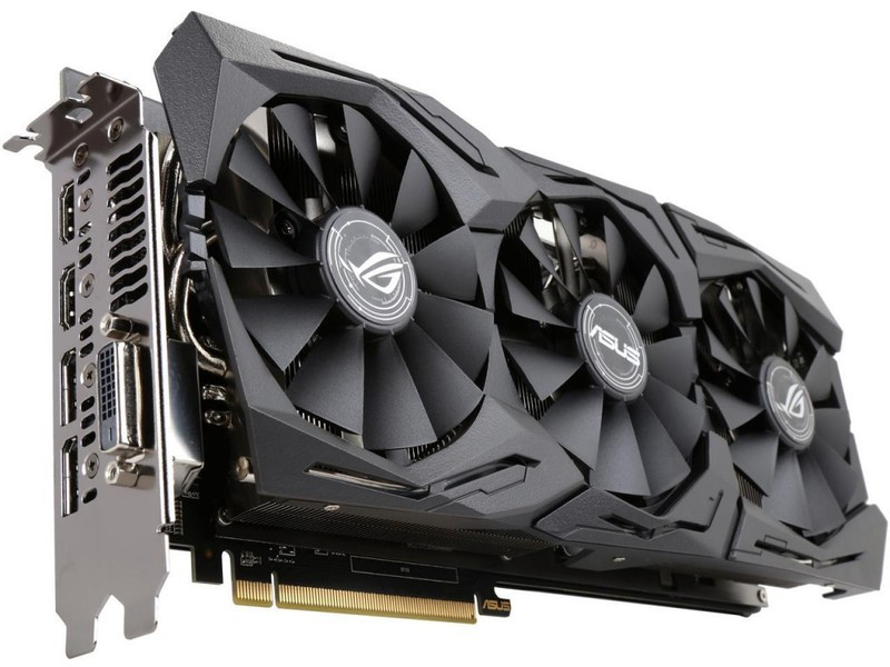 Видеокарта ASUS Radeon RX 580 1360Mhz PCI-E 3.0 8192Mb 8000Mhz 256 bit 2xDPI DVI 2xHDMI HDCP ROG-STRIX-RX580-8G-GAMING цена 2017