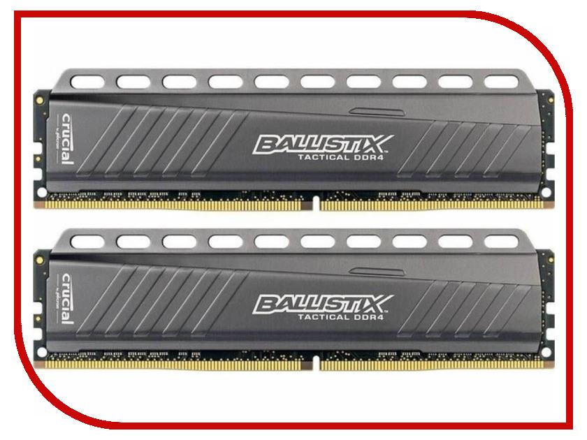 Модуль памяти Crucial Ballistix DDR4 DIMM 3000MHz PC4-24000 CL15 - 16Gb KIT (2x8Gb) BLT2C8G4D30AETA модуль памяти hp 16gb 2rx4 pc3l 10600r 9 kit 627812 b21
