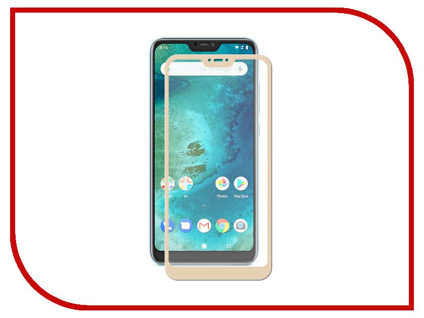 Аксессуар Защитное стекло для Xiaomi Mi A2 Lite / Redmi 6 Pro Svekla Full Screen Gold ZS-SVXIMIA2L-FSGOLD аксессуар защитное стекло для huawei p20 full screen svekla blue zs svhwp20 fsblue