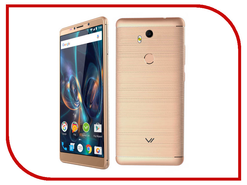 Сотовый телефон Vertex Impress Phonic LTE Gold сотовый телефон vertex impress fortune lte gold