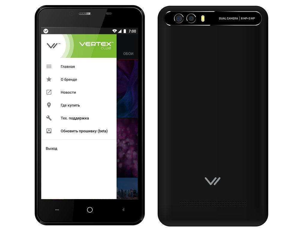 Сотовый телефон Vertex Impress Lion Dual Cam Black