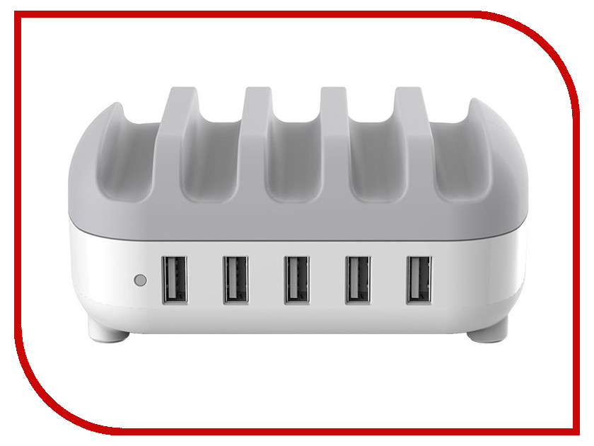 Зарядное устройство Orico DUK-5P White зарядное устройство orico duk 10p wh white grey