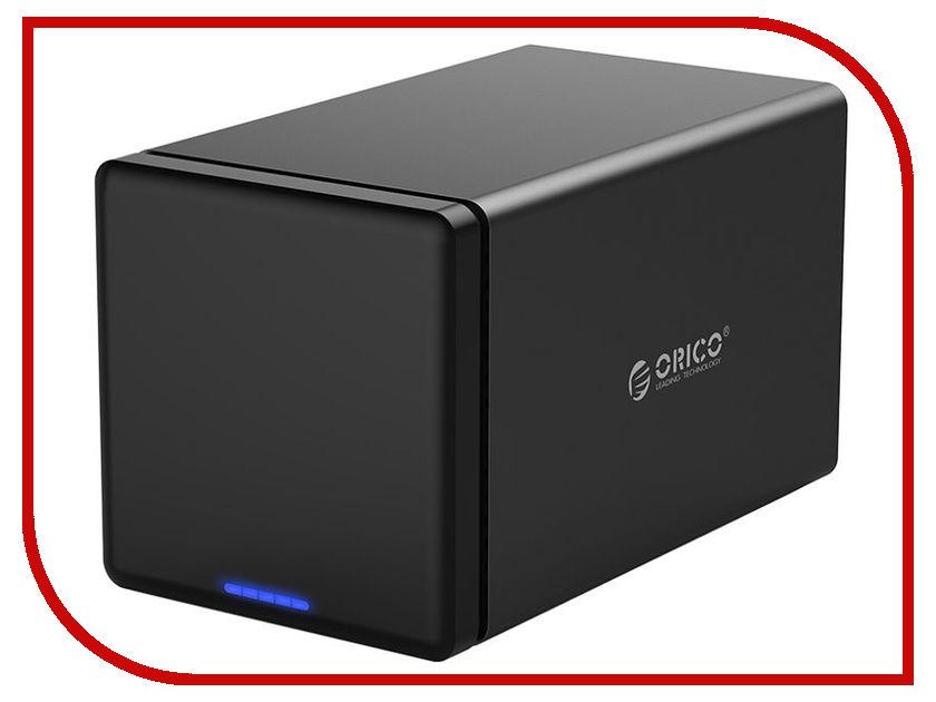 Контейнер для HDD Orico NS400RU3 Black orico hdd docking station ns100u3 aluminum dock enclosure usb3 0 to sata3 0 hard drive box support uasp 12v power max 10tb