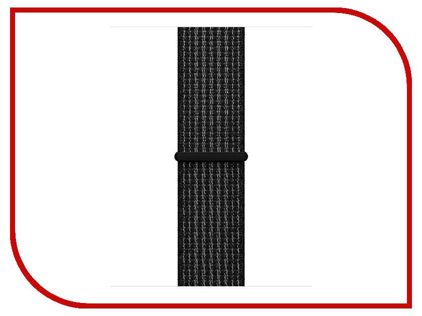 Аксессуар Ремешок APPLE Watch 38mm Nike Sport Black-Platinum MRPE2ZM/A умные часы apple watch nike 38mm space grey aluminium case with anthracite black nike sport band mq162ru a