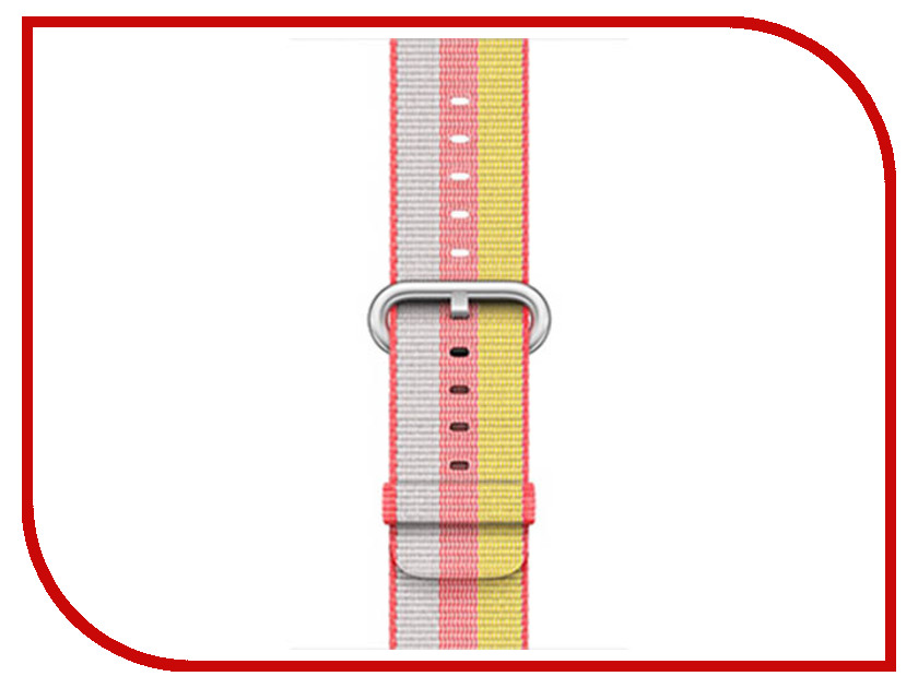 Аксессуар Ремешок APPLE Watch 38mm Woven Nylon Band Red MPW02ZM/A умные часы apple watch series 3 38mm grey space with black sport band mqkv2ru a