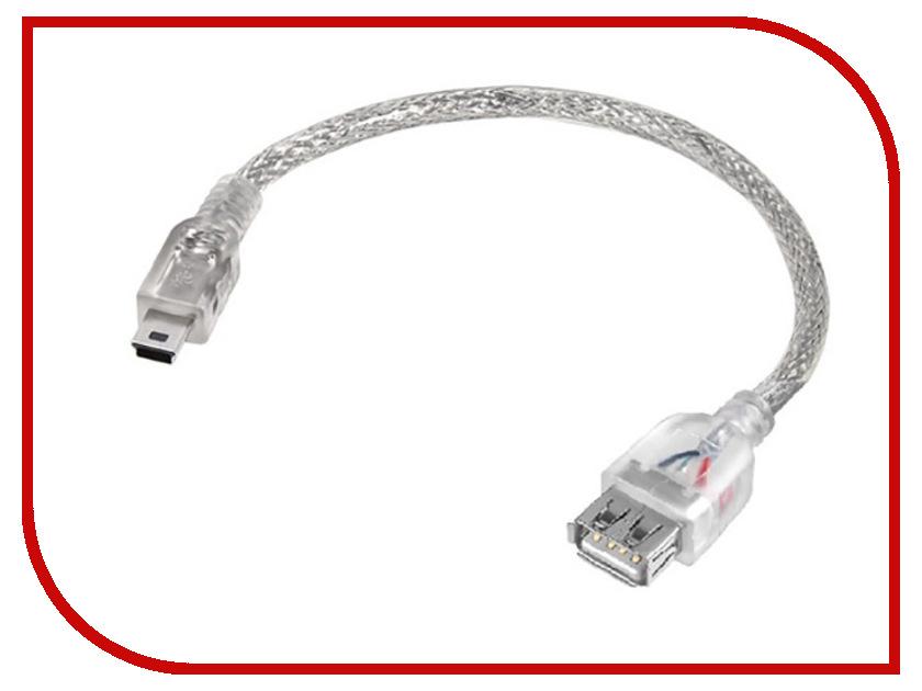 Аксессуар Greenconnect OTG USBMini 0.15m Transparent GCR-MB32AF1-BB2S-0.15m