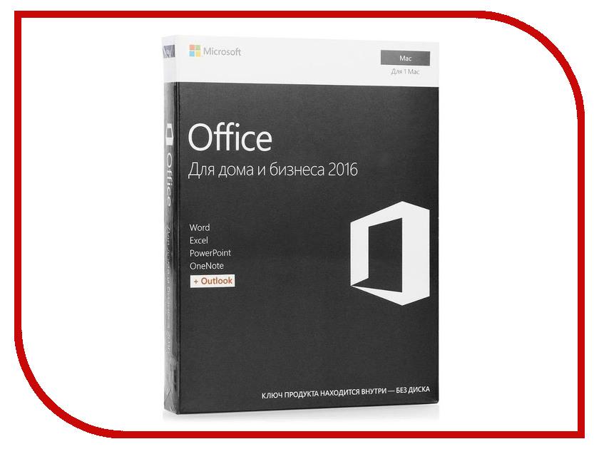 Программное обеспечение Microsoft Office 2016 H&B Mac RUS 1PK W6F-00820 w6f 00820