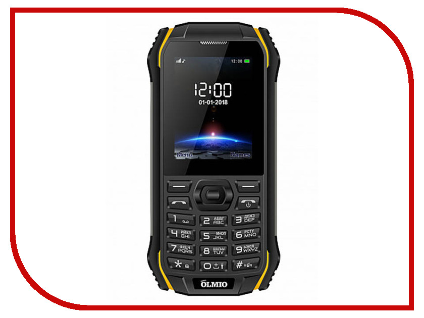 Сотовый телефон Olmio X05 Black-Yellow футболка с полной запечаткой женская printio fashion girl in sketch style